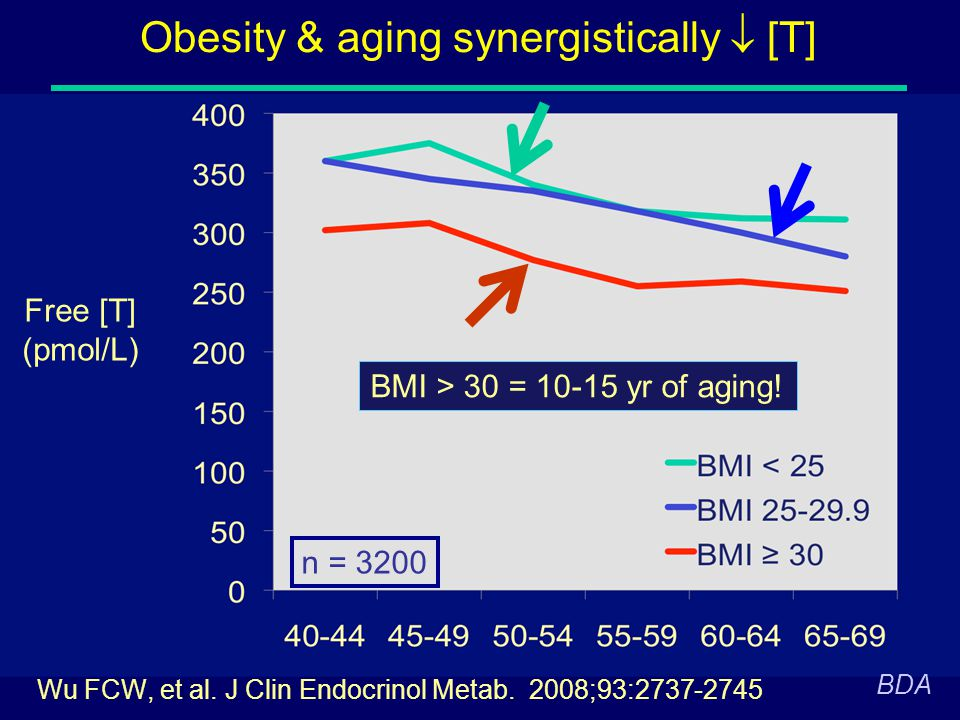 Obesity & aging synergistically  [T]